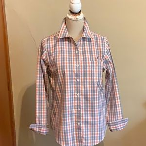 L.L.Bean wrinkle free button-down checked shirt